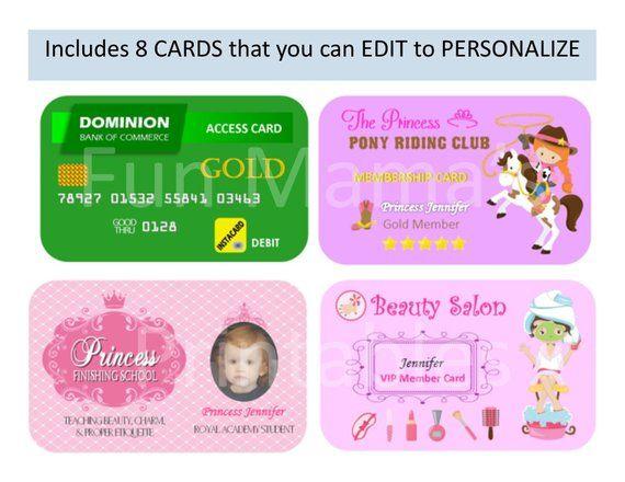 Pretend Play Printable Kids Play Cards Kids Credit Card Kids Pretend Play Cards Play Credit Card Pretend Credit Card Play Cards Kids Credit Card Kids Pretend Play Kids Playing