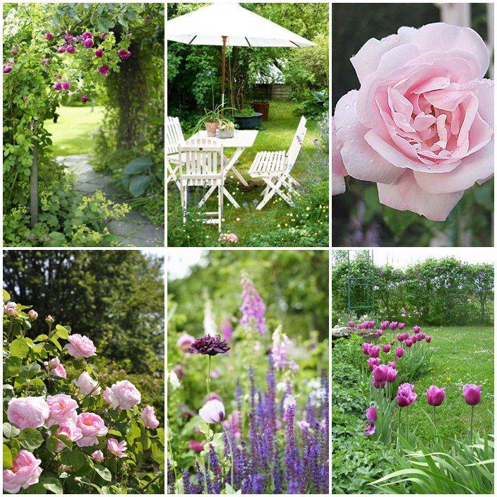 romantisk trädgård   Moodboard - Trädgård