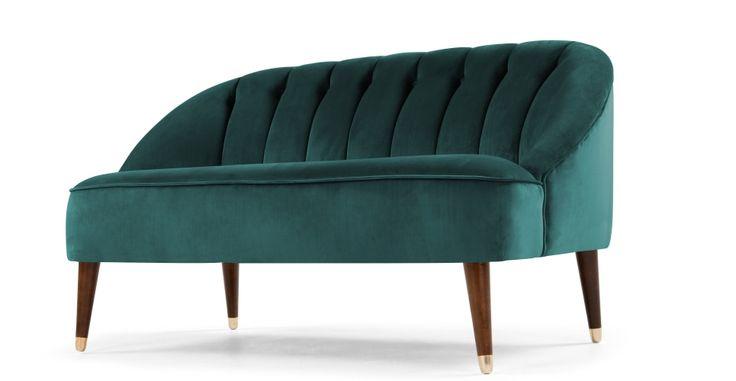 Margot 2 Seater Sofa, Peacock Blue Velvet | made.com