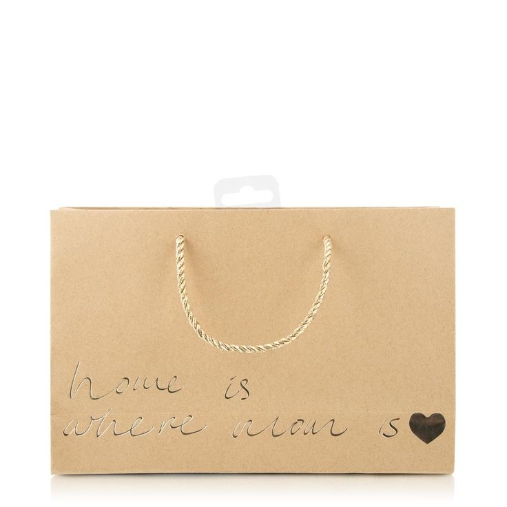 Script Print Small Gift Bag