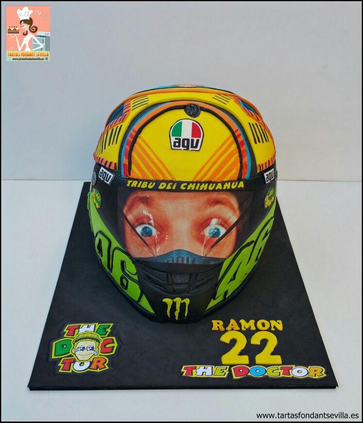 Tarta casco moto Valentino Rossi
