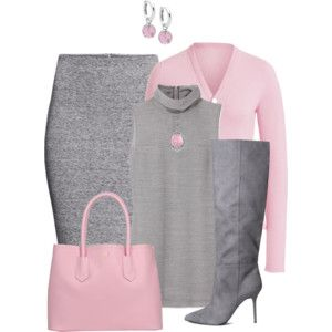 Pink and Gray Outfit