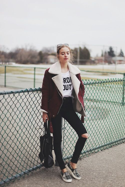 2017 Winter Trend: Outfit Ideas to Wear Shearling Jacket  read more >> http://bit.ly/2yquwMs  #fashion #style #winter #winterfashion #outfits  #shopping