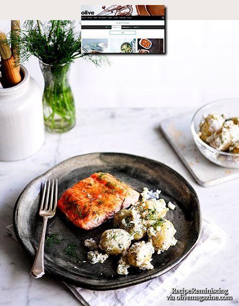Scandi-Style Salmon with Pickled Potato Salad / Scandi-Style Laks med Skarp Potetsalat