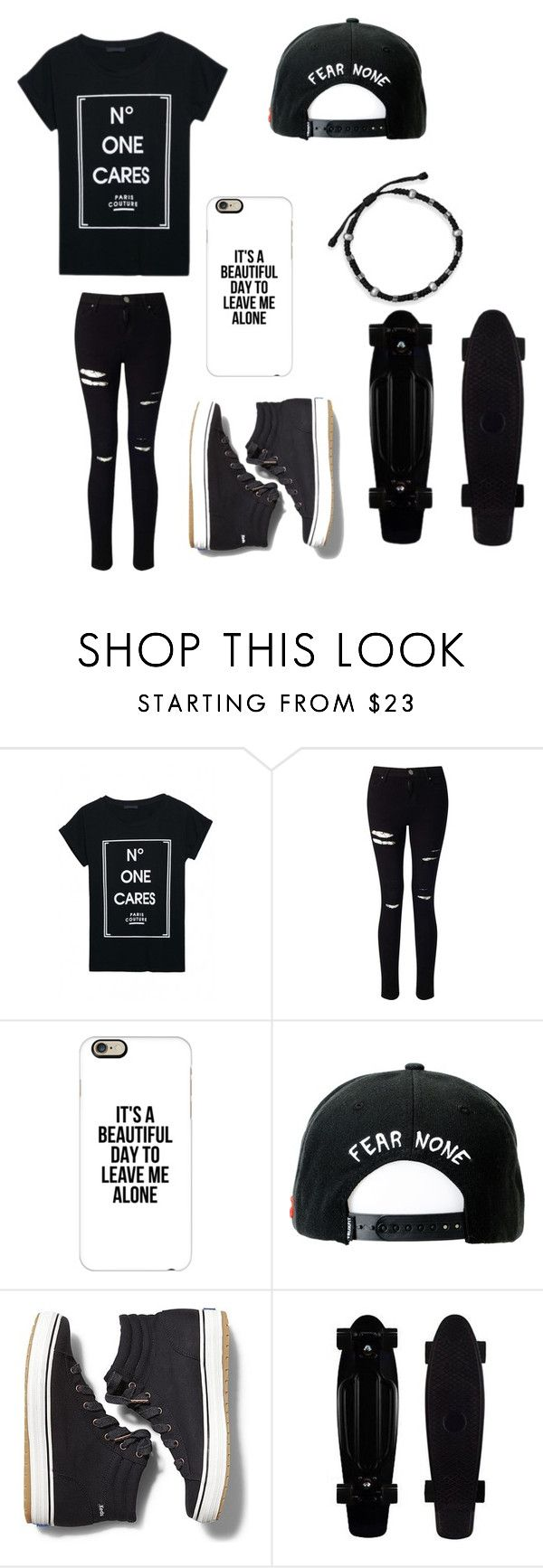 """Untitled #66"" by darksoul7 on Polyvore featuring WithChic, Miss Selfridge, Casetify, Trukfit, Keds and BillyTheTree"
