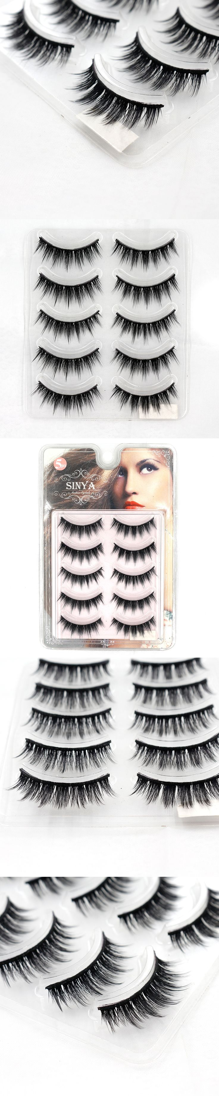 5 Pairs Tapered Thick Imitate Mink Eyelashes Extension False Eye Lashes Cilios Posticos Naturais Faux Cils Nep Wimpers G635-S5