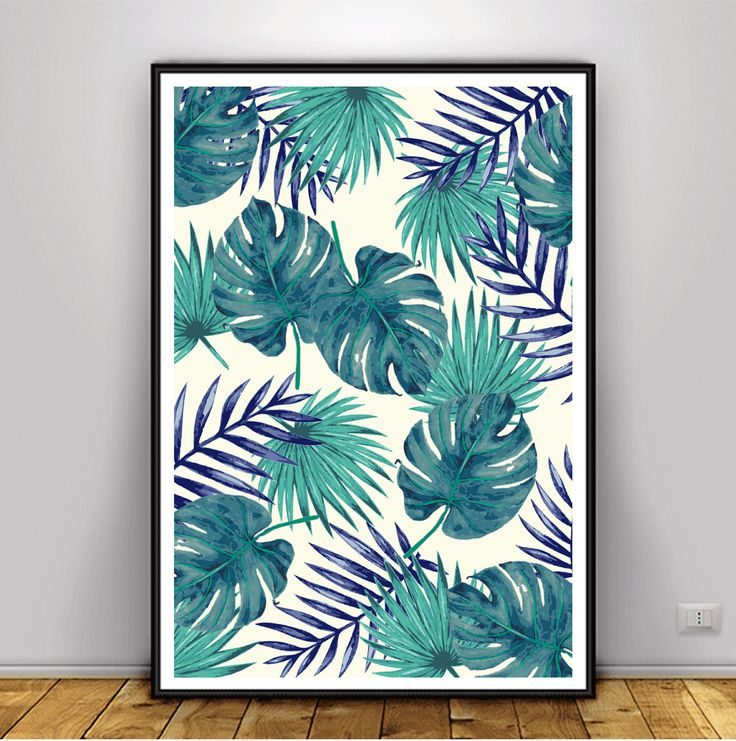 Palm Leaf Poster, DIGITAL ART, DOWNLOAD Pictures, Banana Leaf Print, Palm Leaf Prints, Palm Leaf Wall Art, Tropical Leaf Print by theLlamaPrints on Etsy