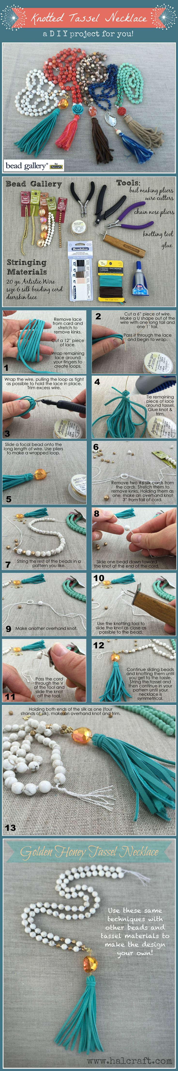 It's easy to create a trendy Knotted Tassel Necklace to match all your outfits with this DIY jewelry project how-to.