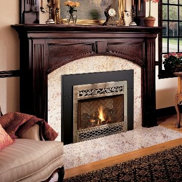 Large Electric Fireplace inserts | dvl insert classic arch gas fireplace insert heats like a fireplace ...
