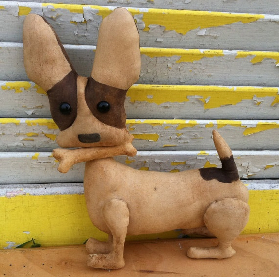 Primitive Brown Chico by Rabbithollowprims on Etsy, $19.95