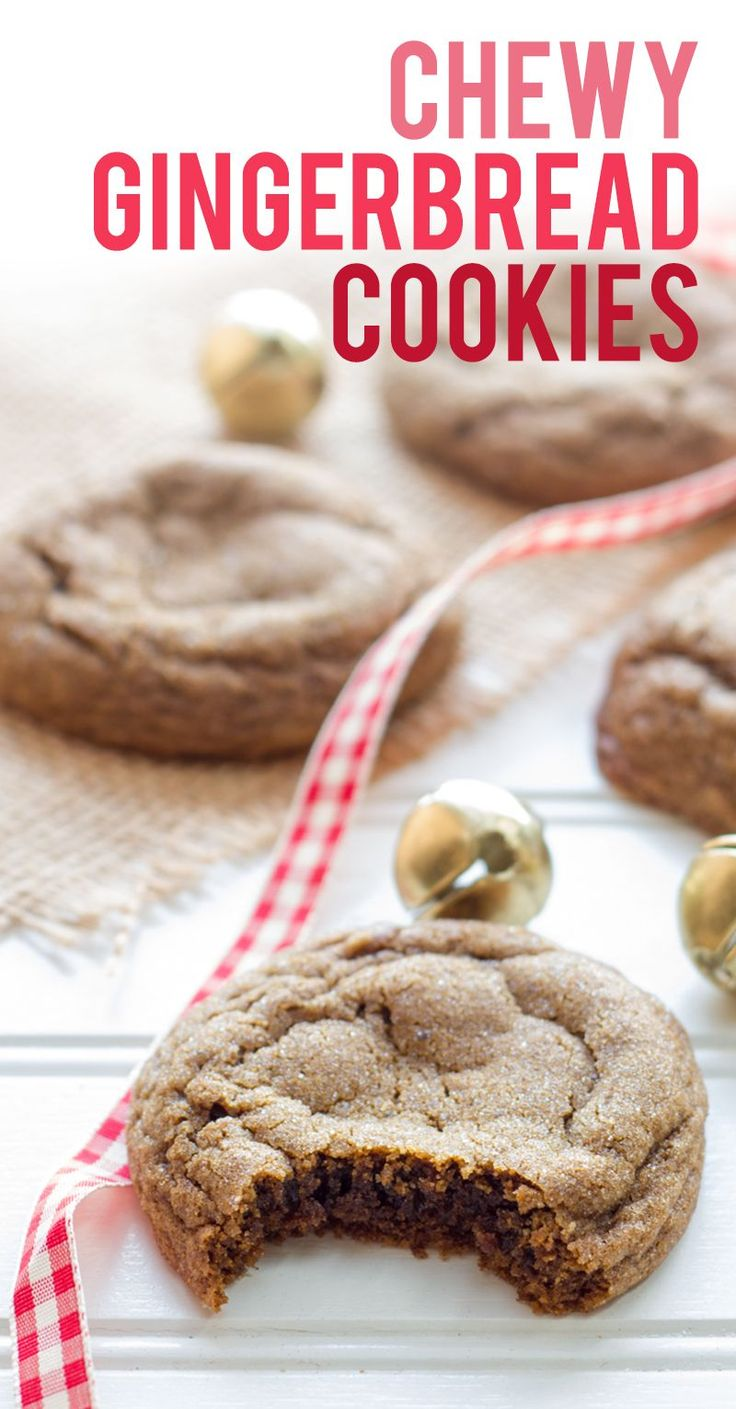 Chewy Gingerbread Cookies have all the warm and spicy holiday flavor you are…