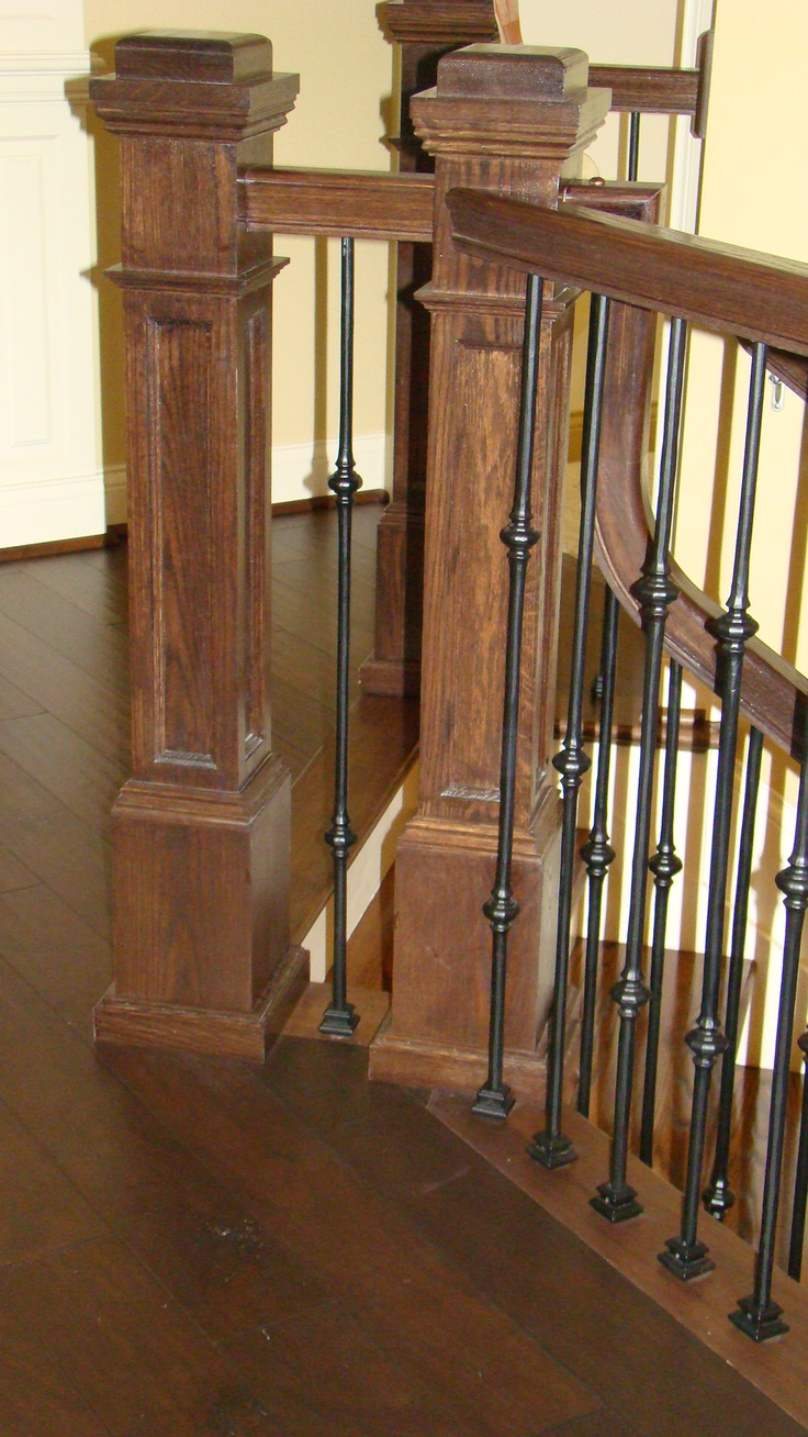 Foyer Staircase Quest : Jò in wonderland mclaughlin newel posts honey do list