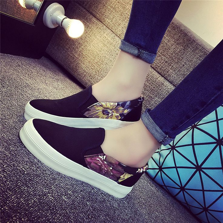 Summer Women Canvas Shoes Slip on Casual Shoes Plimsolls Female Loafers Flats Printed Flat Shoes Espadrilles Zapatos XK120805