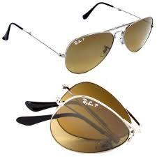 Ray-Ban Men's Aviator Folding RB3479-004/M2-58 Silver Aviator Sunglasses