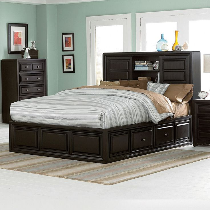 Queen Size Platform Bed With Storage Drawers