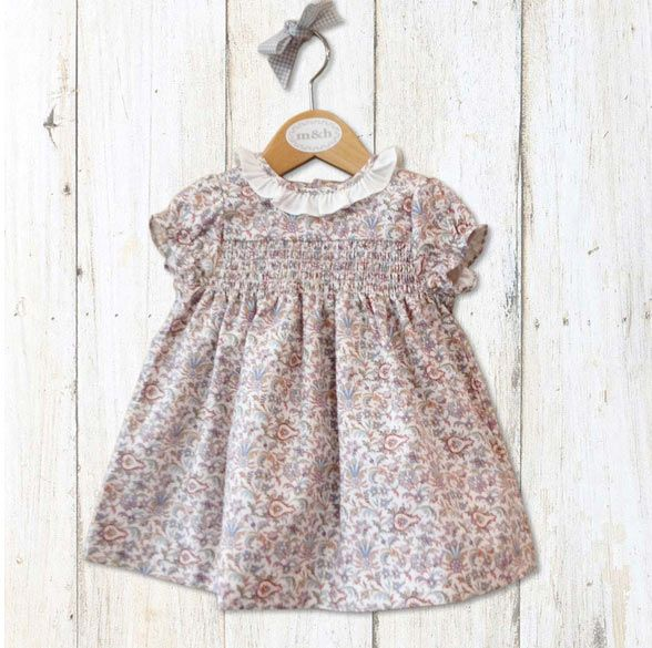 M&H baby dress from Spain | Worn by Charlotte for her first Royal portrait