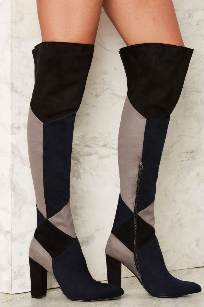 Nasty Gal Off the Blocks Knee-High Boot - Sale: 40% Off | Boots | Shoes