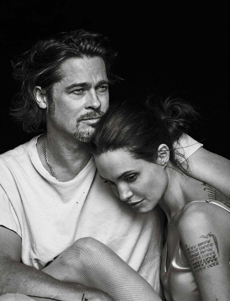 dailyactress:  Vanity Fair Italia November 11th, 2015: Angelina Jolie & Brad Pitt by Peter Lindbergh
