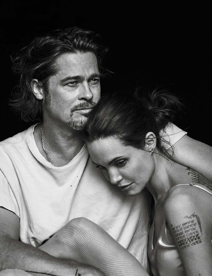 dailyactress:  Vanity Fair Italia November 11th, 2015: Angelina Jolie & Brad Pitt by Peter Lindbergh