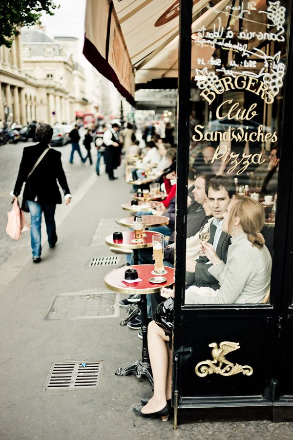Parisian café:  it is said that if you sit at a French café, you will see the whole world go by in an hour