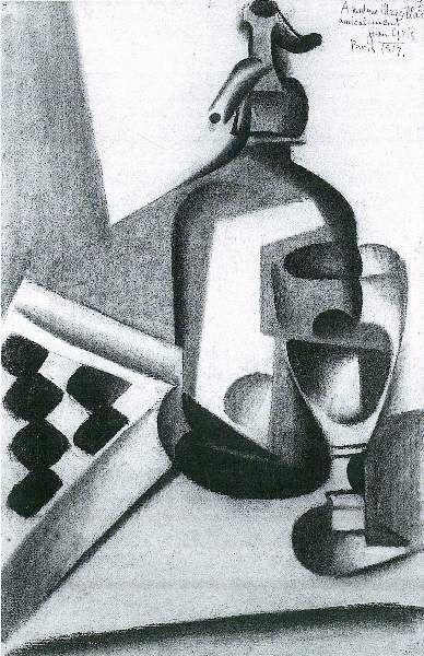 Juan Gris - Still Life with Siphon (388×600)