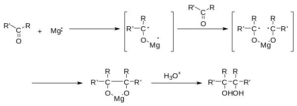 Pinacol reaction mechanism.svg