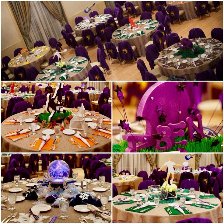 A collection of Ben's favorite things incorporated into the centerpieces and table decor. MK Photography.