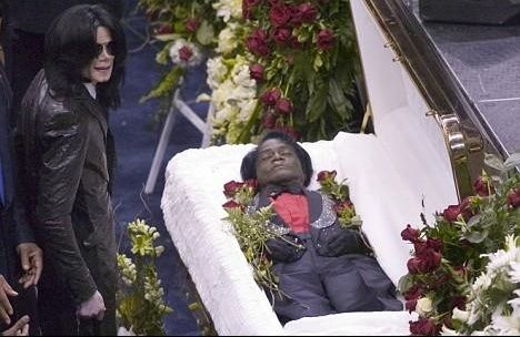 Michael Jackson at James Brown's funeral