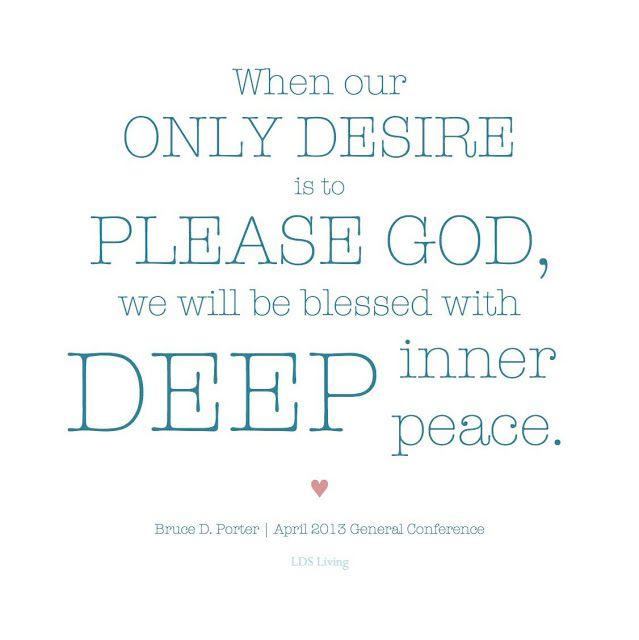 Seeking Inner Peace Quotes: Elder Holland Quote