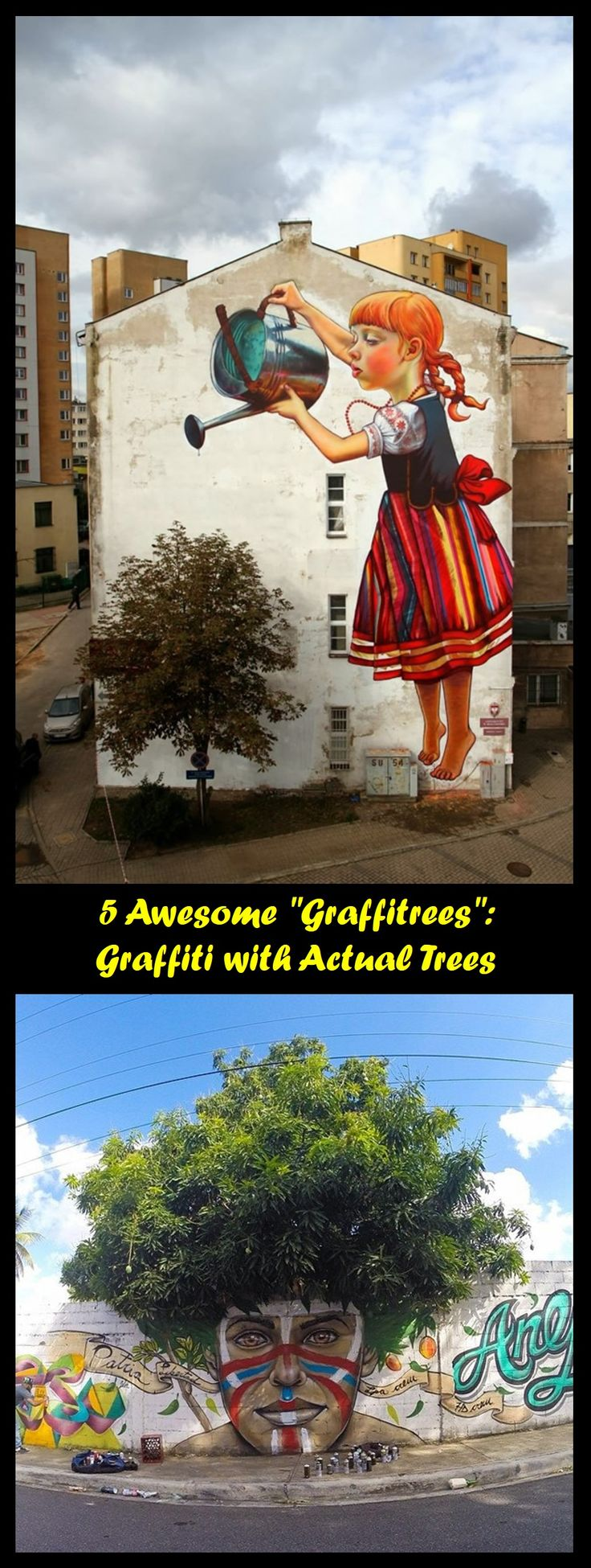 "5 Awesome ""Graffitrees"": Graffiti with Actual Trees! #graffiti #ekcko"