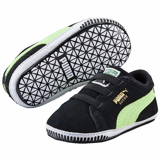 Zapatillas de Puma para los peques de la casa #Puma #bebés #niños #mamástuiteras #mamásblogueras #zapatillas #negro #verde #velcro