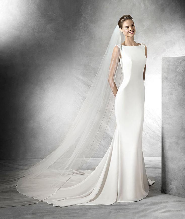 Tatiana, robe de mariée silhouette sirène avec décolleté bateau