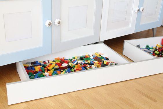 {DIY:} Lego Aufbewahrung – versteckt unter der Kommode –   #