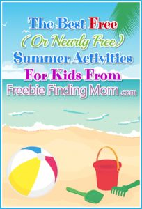Check out this massive list of The Best Free (Or Nearly Free) Summer Activities For Kids From Freebie Finding Mom! http://freebiefindingmom.com/the-best-free-or-nearly-free-summer-activities/