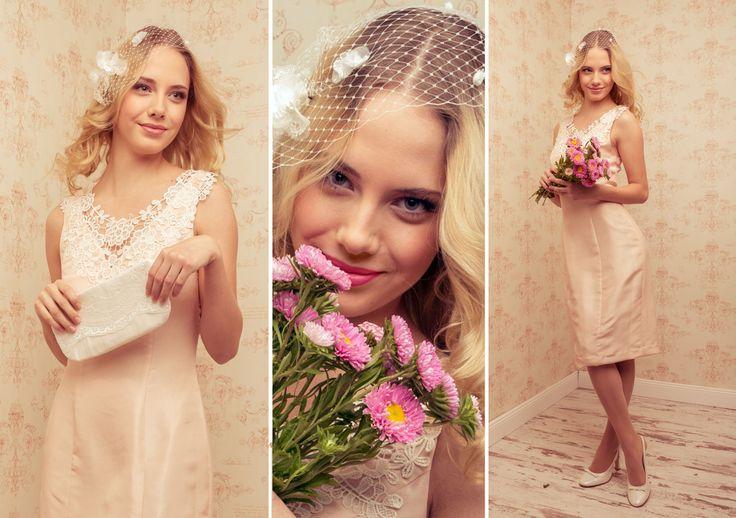 """""""Marisol"""" Kleid in rose.  mögliche Farben: ivory, grau"""