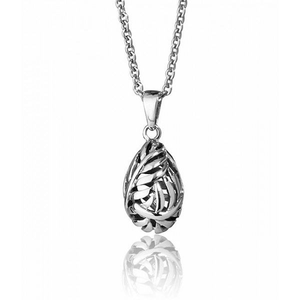 Evolve Silver Fern Pendant - Sterling Silver - 5 Year Guarantee - Free Delivery