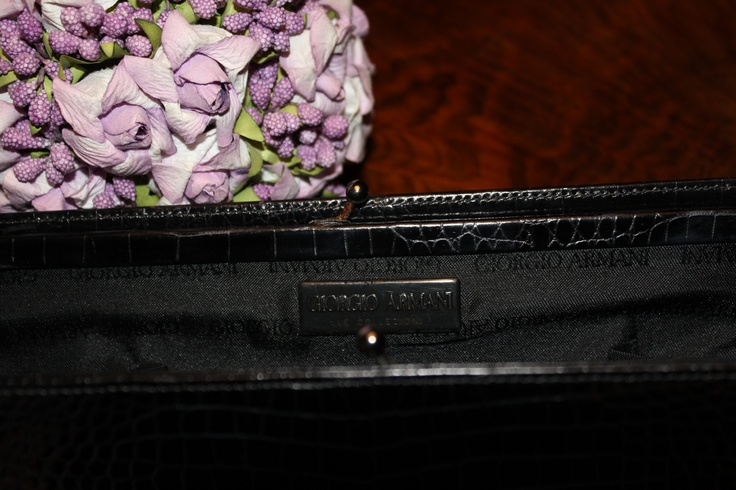 Armani Hard leather pouch