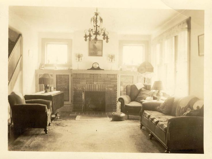 Living Room 1930s the hazy, sepia-tinted atmosphere; the way it's orderly, but still