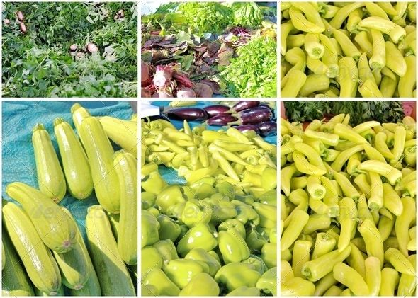 Collage of Green Vegetables