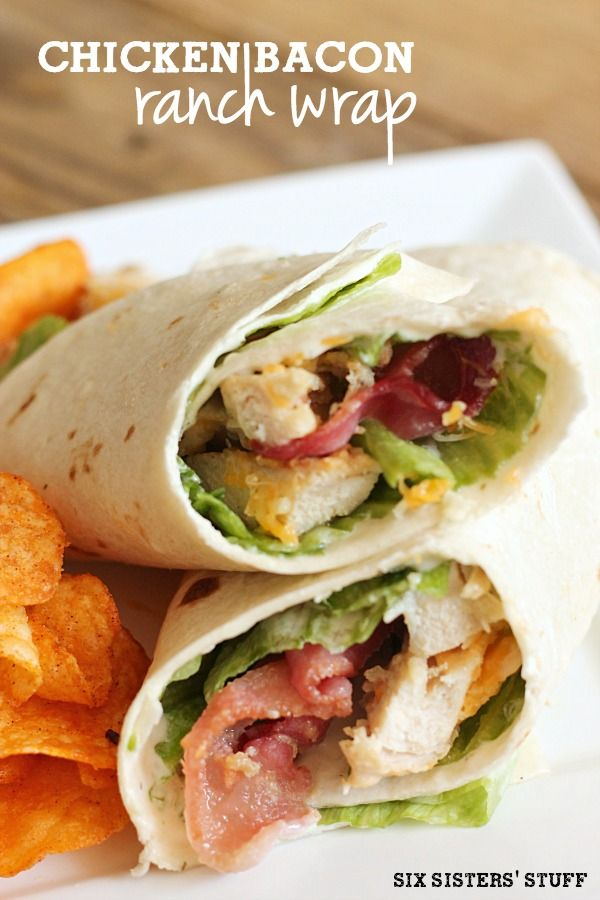 Chicken Bacon Ranch Wrap - because it's way too hot to cook!