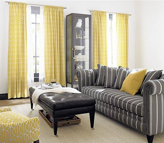 161 best gray and yellow decor images on Pinterest Architecture - yellow and grey living room