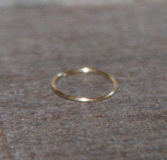 Extra Small 14K Yellow Gold Filled Nose by BirchBarkDesign on Etsy