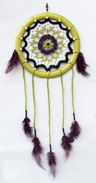 crochet dreamcatcher / horgolt álomfogó http://habcsi.blogspot.hu/