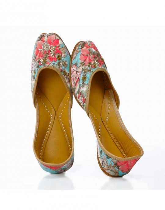 Floral Indian Juttis