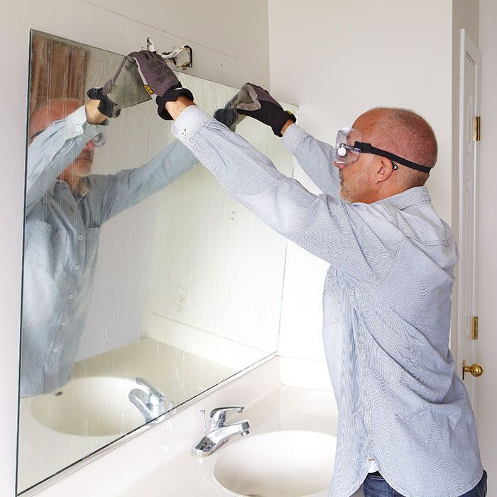 How to remove a bathroom mirror. I always wanted to know this!