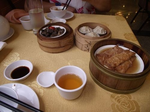 Up-market food - Dim sum at the Fortuna Hotel