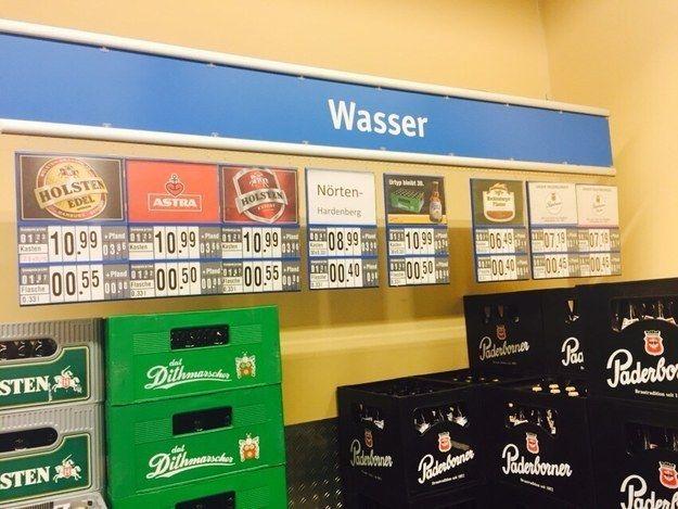 Dieser Versuch, Alkohol zu verkaufen:   22 Dinge, die Du nur in deutschen Supermärkten erlebst