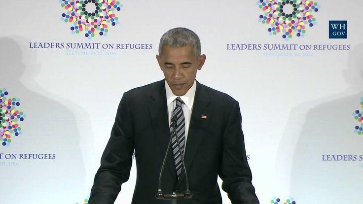 Obama At UN Refugee Summit- Full Speech