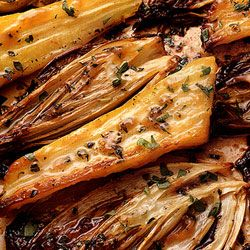 Borrowed from top chef and restaurateur Sally Clarke, these honey-roasted Belgian endives and parsnips will have you begging for more.