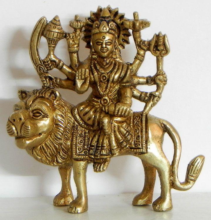 Goddess Bhagawati - A Form of Devi Durga (Brass)